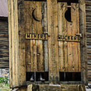 Miners And Muckers Outhouse Art Print