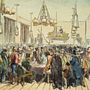 Miners In Saloon, 1852 Art Print