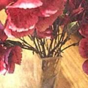 Mini Carnation Bouquet Art Print