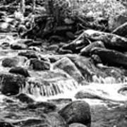 Mini Cascades Smoky Mountains Bw Art Print