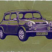 Mini Cooper - Car Art Sketch Poster Art Print