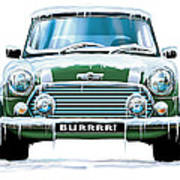 Mini Cooper On Ice Art Print