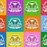 Mini Cooper Squares Art Print