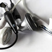 Mini Headphone Art Print by Kenneth Feliciano