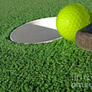 Miniature Golf Art Print by Olivier Le Queinec