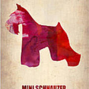 Miniature Schnauzer Poster Print by Naxart Studio