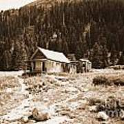 Mining House In Black And White Art Print