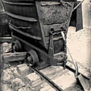 Mining Ore Cart Art Print