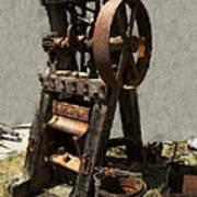 Mining Portable Stamp Mill Art Print by Daniel Hagerman