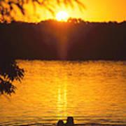 Minneapolis Sunset Love Art Print