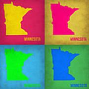 Minnesota Pop Art Map 1  Art Print