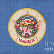 Minnesota State Flag Print by Pixel Chimp