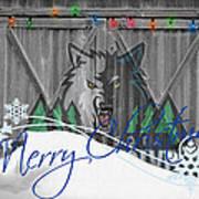 Minnesota Timberwolves Art Print by Joe Hamilton