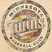 Minnesota Twins Logo Vintage Art Print