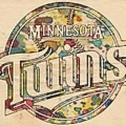 Minnesota Twins Poster Vintage Art Print