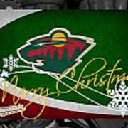 Minnesota Wild Christmas Art Print