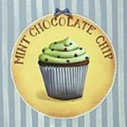 Mint Chocolate Chip Cupcake Art Print by Catherine Holman