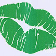Mint Green Kiss Art Print