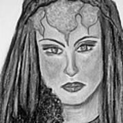 Mirabella Black White Art Print