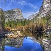 Mirror Lake Yosemite Autumn Art Print