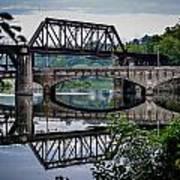 Mirrored Bridges Art Print