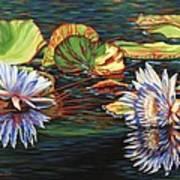 Mirrored Lilies Art Print