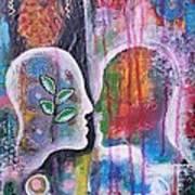 Mirrored Worlds Art Print