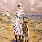Miss Bicycle 1894 Art Print