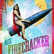 Miss Fire Cracker Art Print