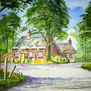 Miss Marples Cottage  St Mary-meade Art Print by Ian Scott-Taylor