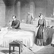Miss Nightingale In The Hospital Art Print