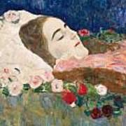 Miss Ria Munk On Her Deathbed Art Print