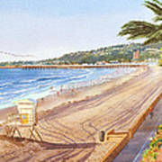 Mission Beach San Diego Art Print by Mary Helmreich