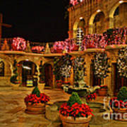 Mission Inn Christmas Chapel Courtyard Art Print