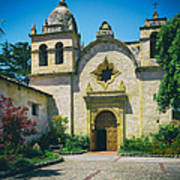 Mission San Carlos - Carmel California Art Print