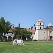 Mission Santa Barbara Art Print