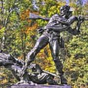 Mississippi At Gettysburg - Defending The Fallen Colors No. 1 Art Print