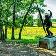 Mississippi Memorial Gettysburg Battleground Print by Bob and Nadine Johnston