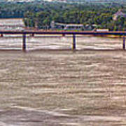 Mississippi River At I-72 Art Print