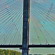 Mississippi River Bridge At Cape Girardeau Mo  Art Print