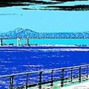 Mississippi River Bridge Poster Art Print