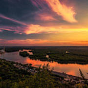 Mississippi River Evening Art Print