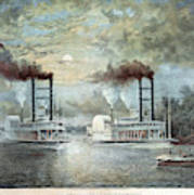 Mississippi River Race, C1859 Art Print