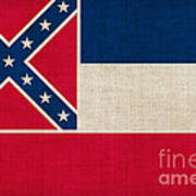 Mississippi State Flag Art Print by Pixel Chimp