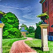 Missouri Botanical Garden Pathway Art Print