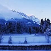 Mist Over Alps Art Print