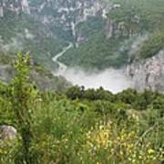 Mist Over Grand Canyon Du Verdon  Art Print