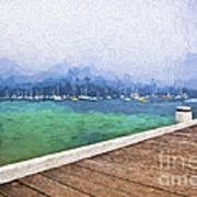 Mist over Palm Beach Art Print
