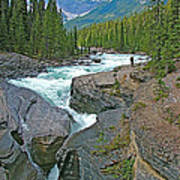 Mistaya Canyon Along Icefield Parkway In Alberta Art Print