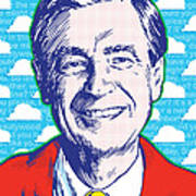 Mister Rogers Pop Art Art Print by Jim Zahniser